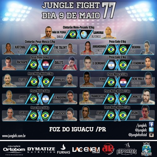 Poster do card completo do Jungle Fight 77