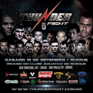 Poster oficial do evento. (Foto: Thunder Fight Fan Page Oficial)