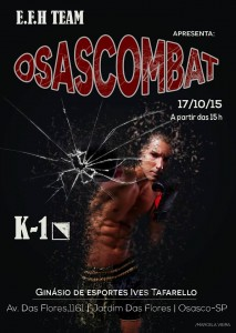 Osascombat K1 poster oficial. (Foto: Fan Page)