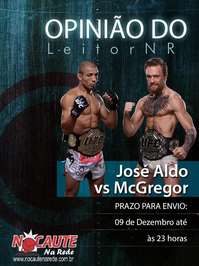 Opiniao Jose Aldo x McGregor