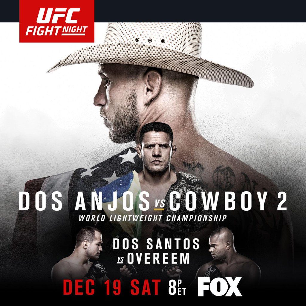 Pôster do UFC Fight Night: Dos Anjos x Cerrone 2