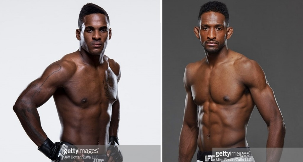 Lorenz Larkin (esq) x Neil Magny (dir) no UFC 202 / Foto: Getty Images